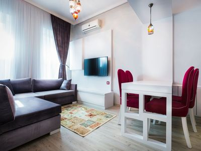 Photo for Moon Suites Taksim Rented 1 Bedroom Flat. Our hotel building is a historic structure was built in the early 1900s.