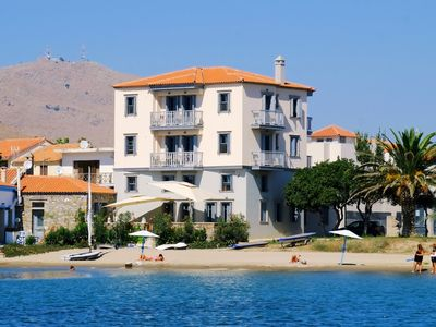 Photo for Limnos Experience - luxury beachfront apartment for six