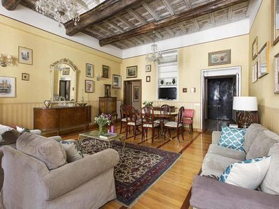 Photo for VILLA MEDICI Charming 3 bdr apartment next to the Spanish Steps - for 9 people