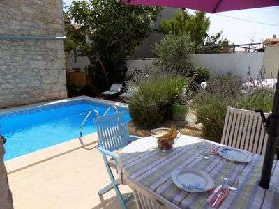 Photo for Beautiful stone holiday house with pool*Pet friendly