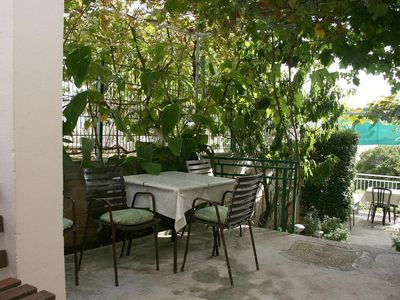 Photo for Two bedroom apartment with terrace and sea view Stanići, Omiš (A-4653-a)