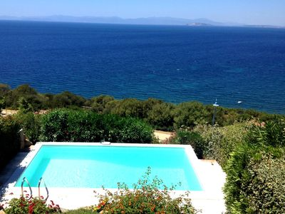 Photo for Luxury villa with private pool and stunning sea views in South Eastern Sardinia.