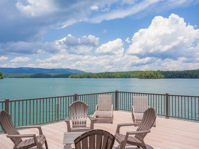 Photo for Lakeside Pagoda-Lake and Mountain Views- Easy Walk To Private Dock W/ Boat Slip