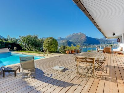 Photo for Talloires, les Granges villa avec piscine.