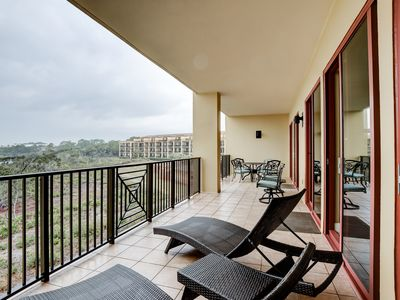 Photo for Inviting resort condo w/ Gulf-front balcony, pools, hot tubs & beach access!