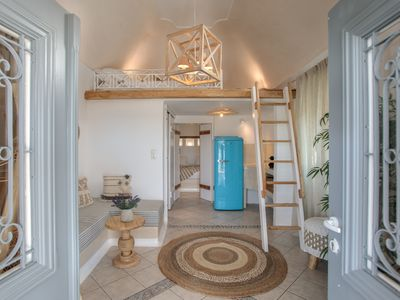 """Photo for Suite """"Byzantine"""" Archetypo with loft bed and Terrace"""