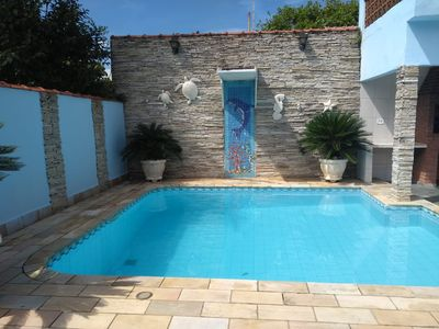 Photo for I rent a house in Itanhaém, 100 m from the sea, with pool, season and weekend.