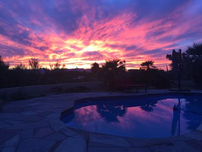 Photo for Foothills Home on 1 Acre with Pool, Mountain and City Views 5 min from La Paloma