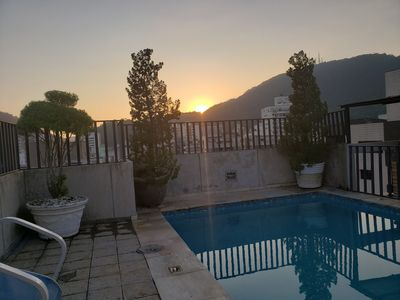 Photo for COVERAGE DUPLEX 4 BEDROOMS GUARUJA / SP C / POOL AND PRIVATE BARBECUE