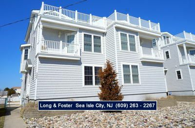 Photo for Landis Avenue facing large deck perfect for sunbathing or relaxing. Nice short walk to the beach!