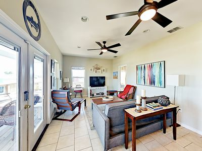 Photo for Water-View 3BR w/ Open Layout, Covered Patio & Deck – Walk to Bay