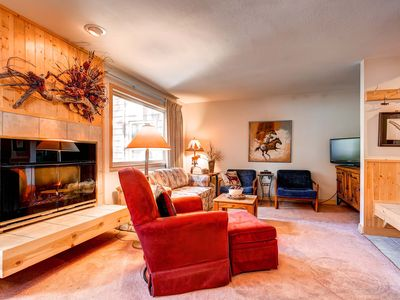 Photo for 7th Night Free! Centrally Located Near Peak 9, Wi-Fi, Gas Fireplace