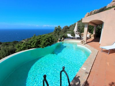 Photo for Private pool, panoramic sea view, Wifi