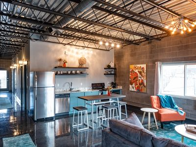 Photo for Modern, industrial 1050 sq ft. suite that sleeps 6