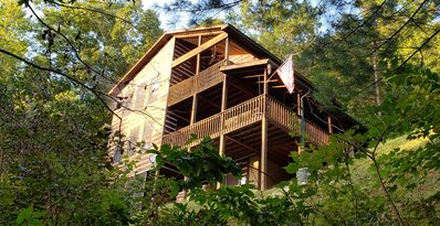 Photo for Sweet Georgia High - 3 BR/4 BA, secluded cabin w/ spectacular mountain views!