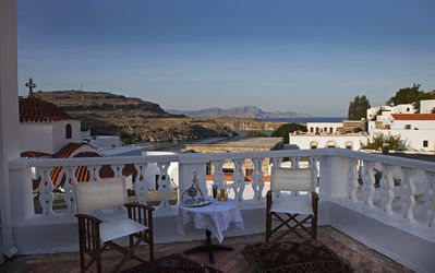 Photo for Seaside Villa of Serenity & Style Overlooking Lindos, Short Walk to Beach/Town