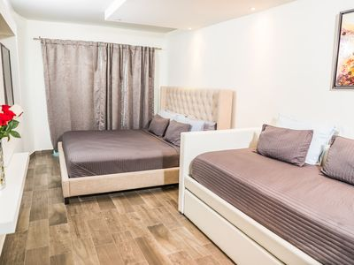 Photo for Charming Ocean Park Luxury Apartment, steps to the beach
