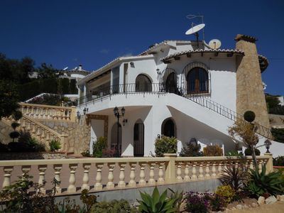 Photo for Luxury Villa in MORAIRA, Private Heated Pool, Sea Views, 8 persons, 4 bedrooms