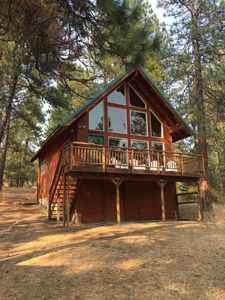 Photo for Private Wooded Retreat in a Clean & Sunny Cabin, Great for Kids & Dogs!..