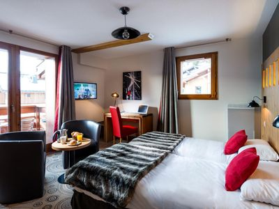 Photo for Surface area : about 58-63 m². Living room with bed-settee. Bedroom with double bed