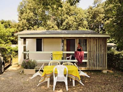 Photo for Camping Domaine de Gajan **** - 3-room ECO chalet for 5 people - TV included