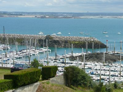 Photo for Charming duplex, terrace, living room, panoramic view over the Coast of Emeraude
