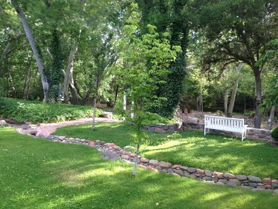 Photo for PRIVATE CREEK FRONT - In Heart of Sedona on a 4 Acre Orchard steps to Oak Creek