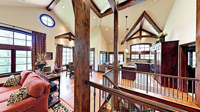 Photo for Luxury ski-in/ski-out mountain condo with shared pool and hot tub