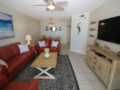Photo for PP504, Stunning UPGRADES, 3 BR 2 BA Gulf Front Condo, Sugar Sands
