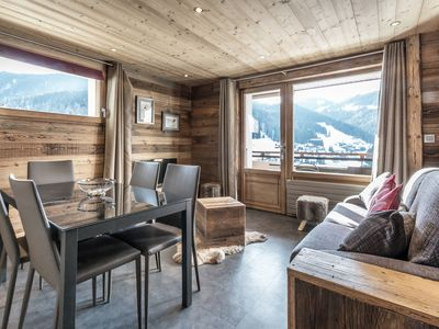 Photo for 4**** accomodation, cozy, ski in-ski out access, Wi-Fi access