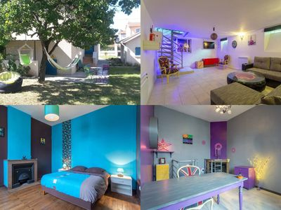 Photo for House + garden with BBQ, hammocks, secure parking, quiet area, subway 2min