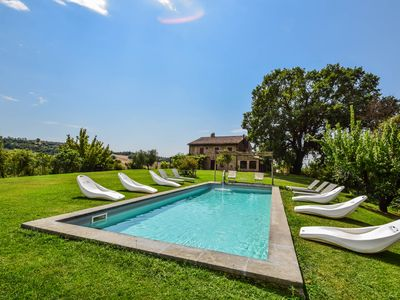 Photo for Detached villa with private pool 70 kms northern Rome, 2,5 kms from village