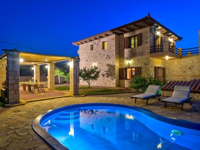 Photo for Villa with wonderful panoramic sea and mountain view, private pool and barbecue