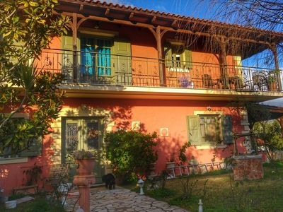 Photo for Kefalonia villas: 3 bedroom charming traditional Greek house in lovely garden.