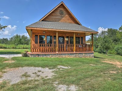 Photo for Log Cabin w/Great Yard- 2 Miles to Lake Hamilton!