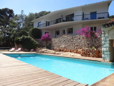 Photo for Villa of 240 m2 panoramic sea view Cap d'Antibes, absolute calm