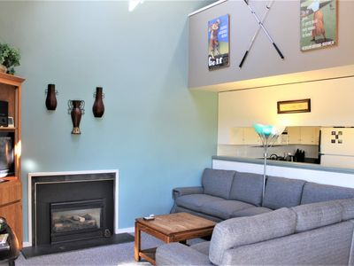 Photo for Cozy Condo across the way from Sharc with gas fireplace & A/C