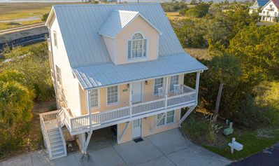 Photo for Majestic Marsh Views, Golf Cart and More!