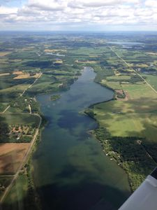 View from plane GNI; see video at northern minnesota island on you tube