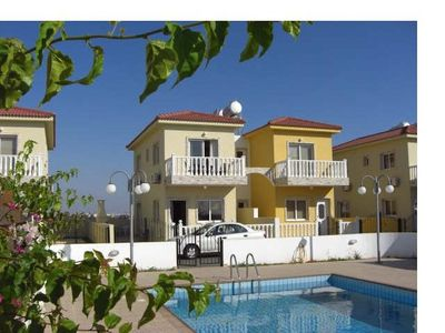 Photo for 2 bed villa,sleeps 6 with swimming pool, sea views minutes from the beach