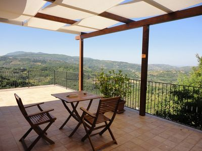 Photo for Apartment with panoramic terrace on the Cilentan