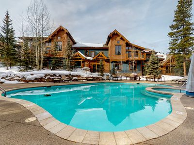 Photo for Ski-in/ski-out condo w/ shared pool, hot tubs & gym - steps to gondola & Main St
