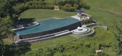 Photo for Most beautiful pool in the Hamptons - ocean views .