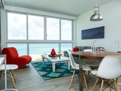 Photo for Ultramodern Beach condo with an accent red energy. Condo for 6. Blue-636