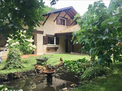 Photo for Villa type landaise 160 m2 with indoor pool and large garden / 8 people