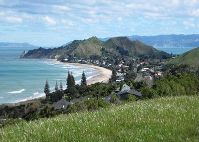 Wainui Beach as seen from the Blackhouse