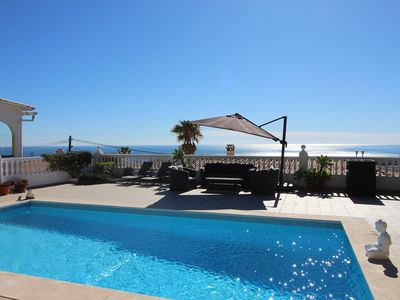 Photo for Sea View Villa, with an outstanding view of the Mediterranean