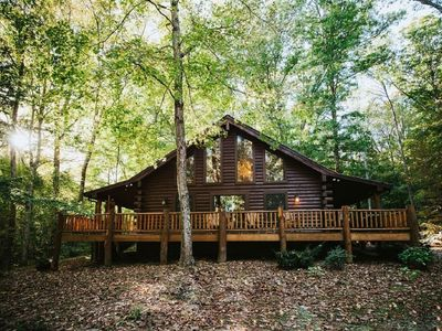 Photo for Hilltop Hideaway Log Cabin