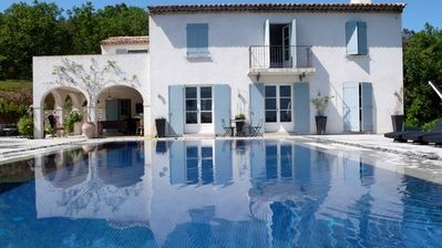 Photo for Luxury secluded villa with stunning pool and panoramic views