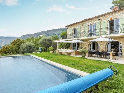 Photo for Mountain Villa with Panoramic Sea Views and Pool in Grasse